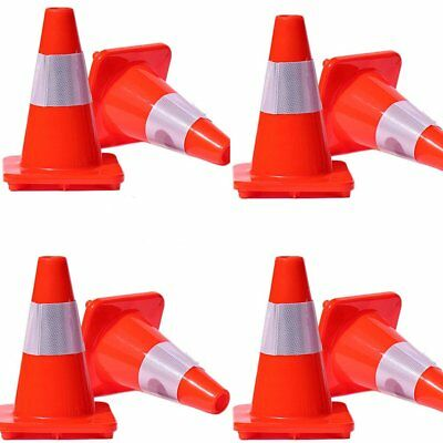 "LOT 8 12''18"" 28'' Reflective Wide Body Safety Cones Construction Traffic SpoUB"