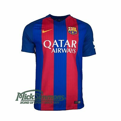NEW FC Barcelona 2016/17 Men's Home Football Jersey (with sponsor) by Nike