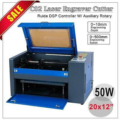 "40W Laser Engraving Machine  With Exhaust Fan USB Port 12""x 8"""