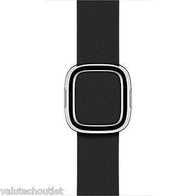 Genuine Original Apple 38mm Black Leather Strap for Apple Watch - Small