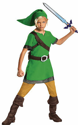 Link Classic Child Green Tunic Costume The Legend Of Zelda Halloween Disguise