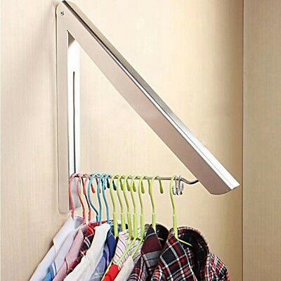 Chrome Finish Bathroom Accessories Wall Mounted Clothes Holder Laundry Hanger