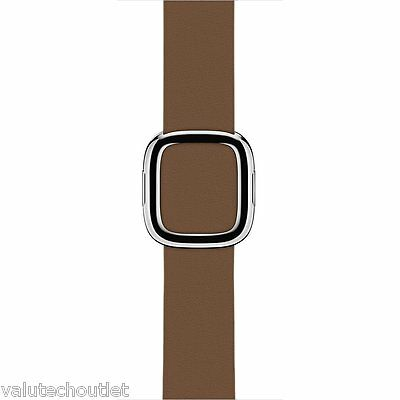 Genuine Original Apple 38mm Brown Leather Strap for Apple Watch -Medium