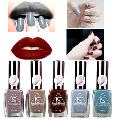 Fashion Gray Color Gel Nail Polish Lot Mirror Effect  French Glitter Nail Art