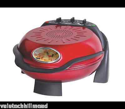 Smart Worldwide Rotating Stone & Grill Pizza Oven in Red