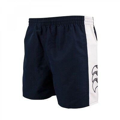 CANTERBURY TACTIC PANELLED KIDS BOYS / GIRLS SHORTS - NAVY 4Y to 12Y