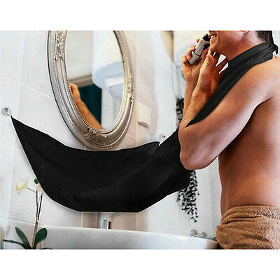 Man Bathroom Apron Beard Care Trimmer Hair Catcher Shave Apron Gown Sink Tool