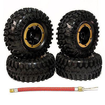 4pcs 2.2 Inflatable Beadlock Wheels System w/Tyre For RC 1/10 Crawler Truck