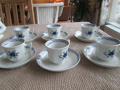 Set Of 6  Adams Baltic Coffee Cups And Saucers
