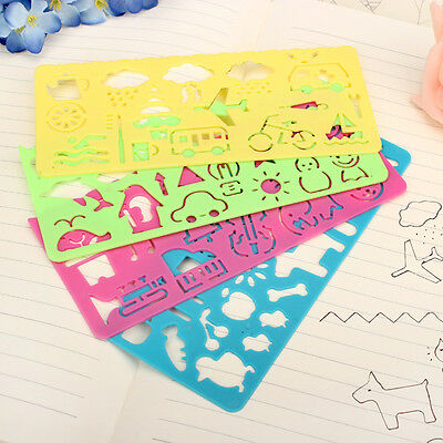 4 x styles Cute Graphics and Symbols Drawing Template Stencil ruler special =G