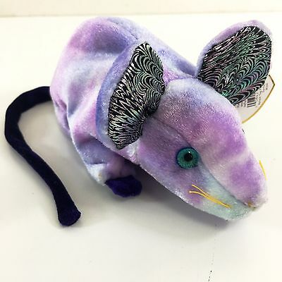 TY Zodiac Beanie Rat the Purple Rodent Soft Cuddly Plush Toy Retired