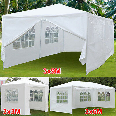3x3M/6M/9M White Outdoor Garden Gazebo Party Wedding Tent Event Canopy Marquee