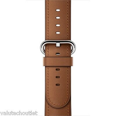 Genuine Apple 38mm Brown Leather Classic Buckle Strap for Apple Watch