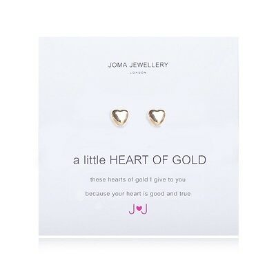 Joma Jewellery A Little Heart Of Gold Earrings Studs Gold Plating Free Gift Bag