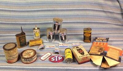 VTG MOBIL 1 MOTOR Oil Can Bank Gas Oil Advertising Petroliana Mobiloil Tin Lot