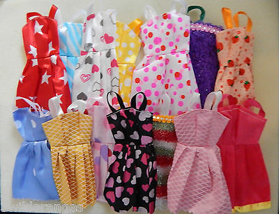 Barbie Dolls Dresses Clothes 10 pcs pieces all different