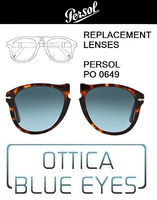 d803a5fed5 Lenti di Ricambio PERSOL PO 0649 filtri Replacement Lenses 86 BLUE SKY  GRADIENT