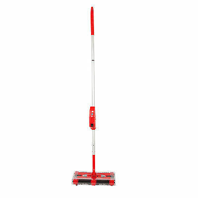 Swivel Head Floor Sweeper Rechargeable Cordless Lightweight Battery Operated