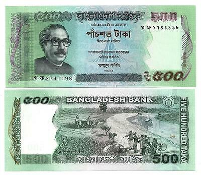 Bangladesch Bangladesh 500 Taka 2016 New Sign Unc P 58