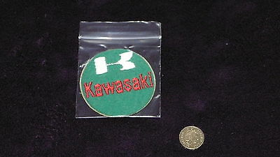 Kawasaki Vintage Round Green And Red Motorcycle Cloth Patch Free Uk Postage