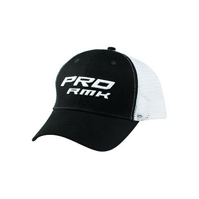 OEM Polaris Black & White Pro RMK Snowmobile Mesh Adjustable Cap Baseball Hat