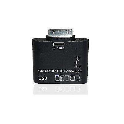 5in1 OTG Connection Kit Kartenleser USB Adapter Samsung Galaxy Tab 2 Note 10.1