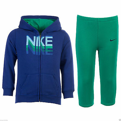 Nike Infant's Full Tracksuit Activewear Full Zip Hoodie Sweatshirt Joggers Pants