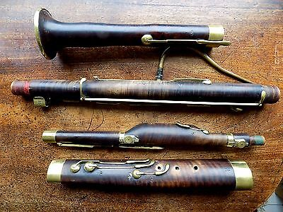 c1830 Important Antique Bassoon Kuss Wien Vienna A440 Classical Romantic 13 Key