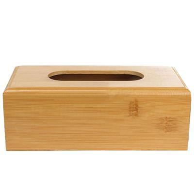Natural Bamboo Tissue Paper Storage Box Room Car Napkin Case Cover Holder L