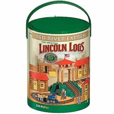 Lincoln Logs Red River Express Mixed PlaySet Over 500 Pieces Real Wood Logs