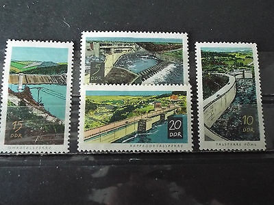 Série 4 timbres neuf All. DDR 1968 : Barrages