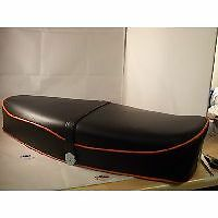 Vespa GS Style Seat Black Orange Piping PX PE LML T5 Classic GS GT GL Sprint