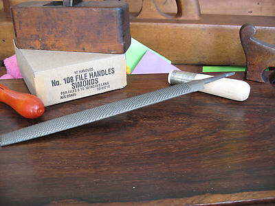 "ONE (1)TOME' FETEIRA 10"" Cabinet Rasp Smooth Cut (LIKE #50) incl. SIMONDS Handle"