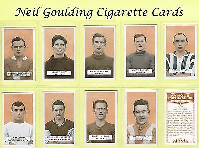 BAT (B.A.T.) - Famous Footballers, Set 3 1925 #1 to #50 Football Cigarette Cards