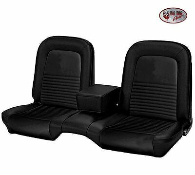 1967 Mustang FASTBACK Front & Rear Bench Seat Upholstery - Black Made by TMI