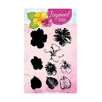 STUDIO LIGHT Layered Clear Stamps HIBISCUS STAMPLS06 37mm x 45mm 6 Piece