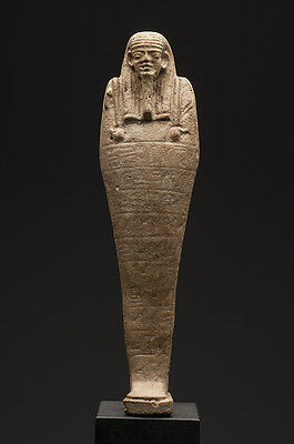Large Ancient Egyptian Faience Ushabti Late period, ca. 700-30 B.C.