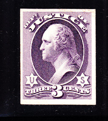US O27P4 3c Justice Department Proof on Card