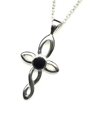 genuine whitby jet and sterling silver pendant hand made in whitby 00038p