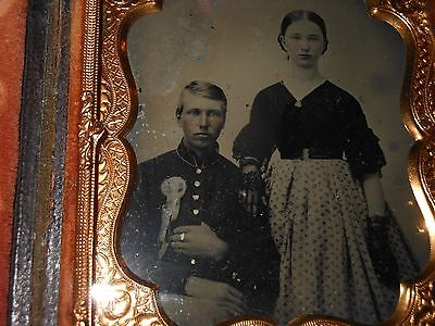 """Civil War Soldier & Wife """" 1/6 Plate Ambrotype & Full Case"""
