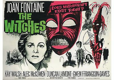 The Witches - Joan Fontaine - Hammer Horror - A4 Laminated Mini Poster