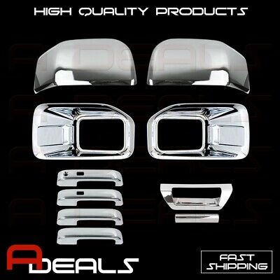 Chrome Covers 15-16 FORD F150 Fog Lamp 2 Mirror 4 Door Handle 1 Tailgate W/O Cam
