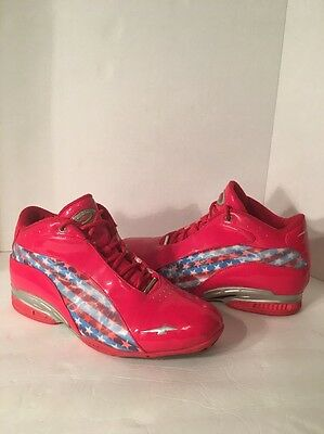 AVIA Basketball Shoes / American Flag Red White and blue size 10.5 *RARE*