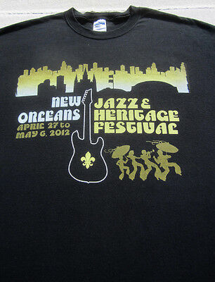 NEW ORLEANS 2012 Jazz Festival Stage Krewe XL T-SHIRT