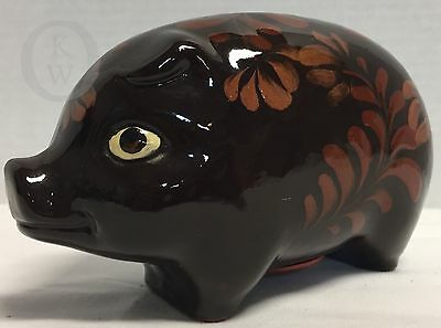 Eldreth Pottery* REDWARE*2008* Black Bird*HANDMADE*Piggy Bank*Folk Art *16348B