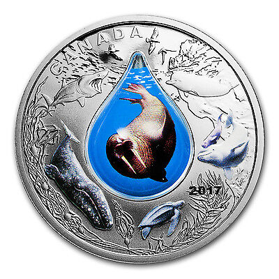 2017 Canada 1 oz Silver $20 Underwater Life (3D Water Droplet) - SKU #105263