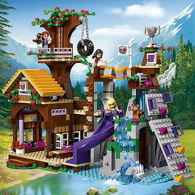 Friends Series Adventure Camp Tree House Building Blocks Bricks Assembling Toys