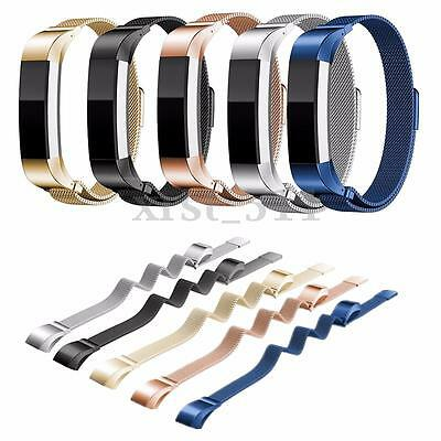 Steel Watch Band Replacement Magnetic Milanese Strap For Fitbit Alta Tracker