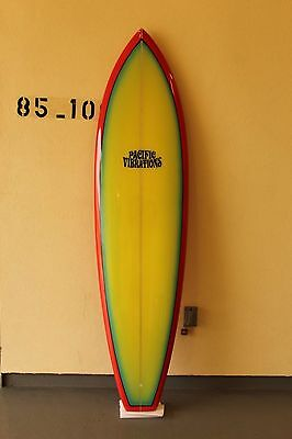 "Pacific Vibrations 6'8"" 19.8 x 2.5  single fin vintage style surfboard New"