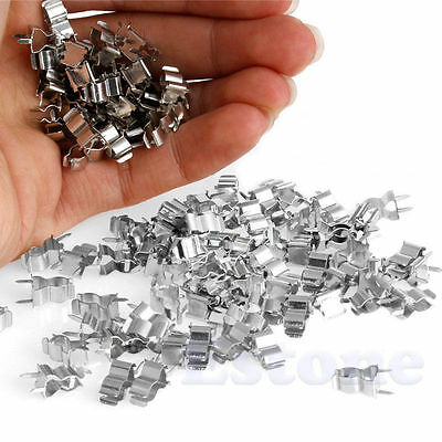 100x Fuse Holder Clips 5*20mm Glass Quick Fast Blow Fuses Welding Holder